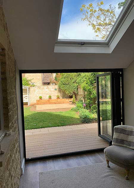 Patio doors extension in Oxfordshire
