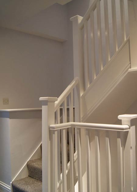 Stairs to a loft conversion